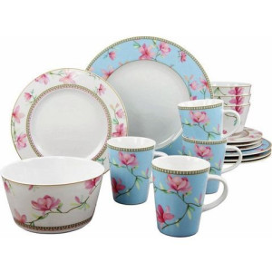 CreaTable combi-servies, porselein, 16-delig, Magnolia