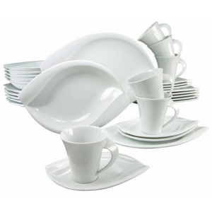 CREATABLE combi-servies, porselein, 30-delig, ACACIA