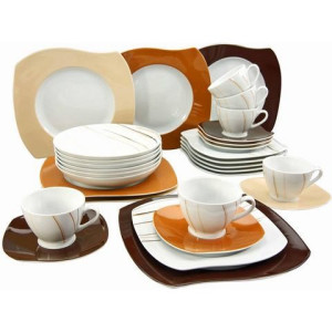 CreaTable combi-servies, porselein, 30-delig, MASAI MARA
