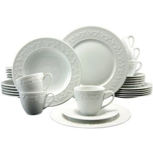 CREATABLE combi-servies, SILVIA (30-dlg.), porselein