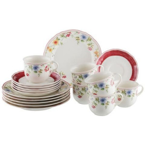CreaTable koffieservies, New Bone China, Cornwall (18-delig)