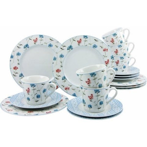 CreaTable koffieservies, porselein, 18 delen, ANNIKA