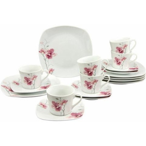 CreaTable koffieservies, porselein, 18-delig, Aiko