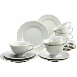CreaTable koffieservies, porselein, 18-delig, Maria Theresia