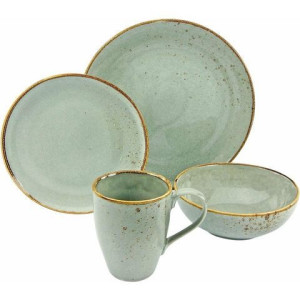 CREATABLE servies, aardewerk, 4-delig, natuurgroen, NATURE COLLECTION