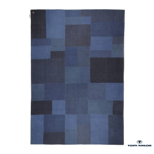 Tapijt Patch denim - blauw - 160x230cm, Tom Tailor
