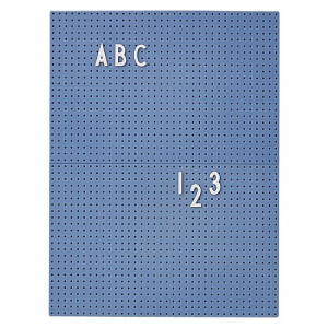 Design Letters Letterbord A4 - Blauw