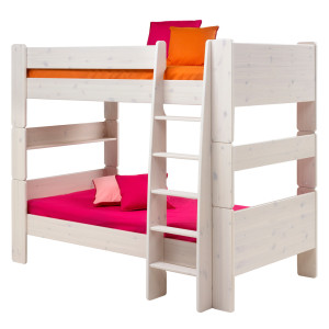 Stapelbed Steens for Kids - massief grenenhout - wit, Steens