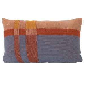 Ferm Living Medley Knit kussen 40x25 dusty blue