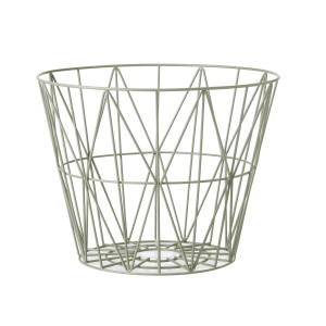 Ferm Living Wire Basket opbergmand dusty green small