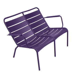 Fermob Luxembourg fauteuil duo aubergine