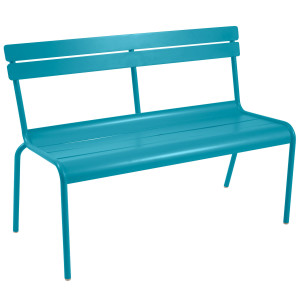 Fermob Luxembourg tuinbank met rugleuning Turquoise Blue