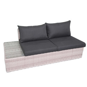 Fonteyn | Loungebank 2-zits Rechts Salou | Halfmoon Light Grey