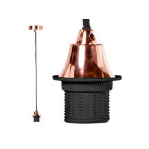 Fuse hanglamp fitting, koper en zwart