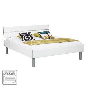 Bed Mavi - hoogglans wit, Rauch Select