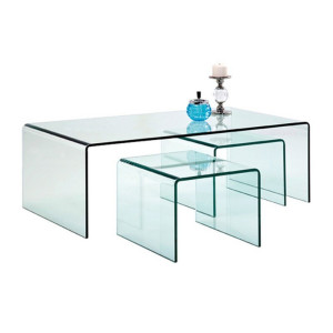 Kare Design Clear Club Glazen salontafel set Clear Club 3