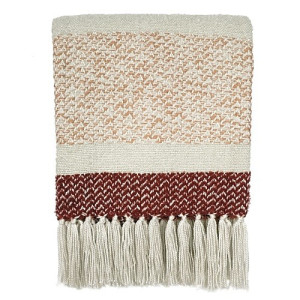 Malagoon Berber Plaid 125 x 150 cm - Grainy Red