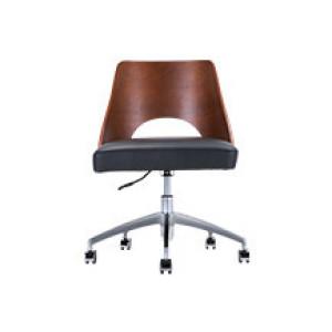 Bureaustoel Directie S210 Zwart Leer Met Hout.Houten Bureaustoelen Online Kopen Vergelijk 24 Stuks