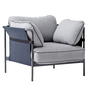 Hay Can fauteuil frame grijs buitenkant blauw Surface 120