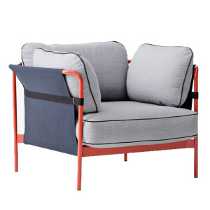Hay Can fauteuil frame rood buitenkant blauw Surface 120