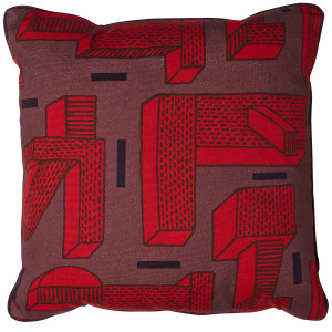 Hay Printed Cushion In The Grass kussen rood 50x50