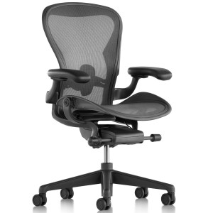 Herman Miller Aeron Chair (new) Fully Adjustable Carbon black Posture Fit