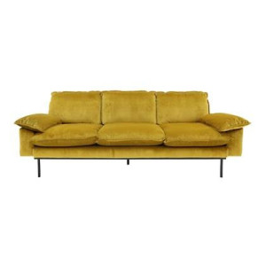 HKliving Retro Sofa 4-zitsbank