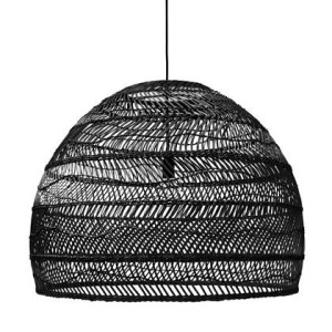 HKliving Wicker Rieten Hanglamp L