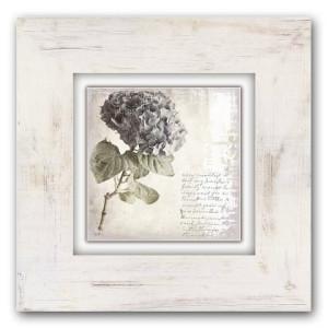 HOME AFFAIRE artprint op hout Paarse bloem, 40x40 cm