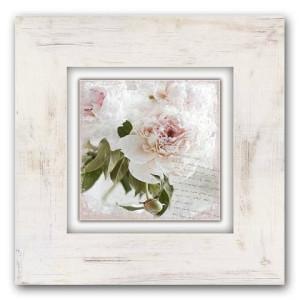 Home affaire artprint op hout Roze Bloem 40/40 cm