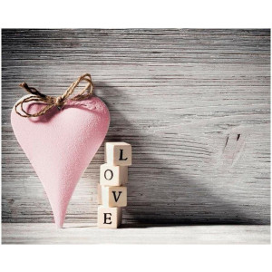 Home affaire artprint op linnen Heart Love Pink
