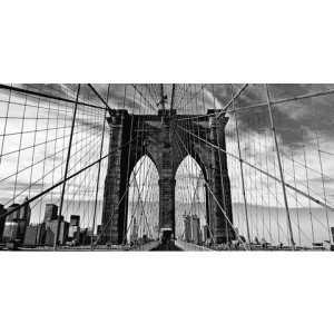 HOME AFFAIRE artprint op linnen Peter Knif: Brooklyn Bridge, 100x50 cm