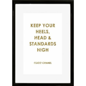 HOME AFFAIRE artprint Opschrift: keep your heels, …, 30/40 cm