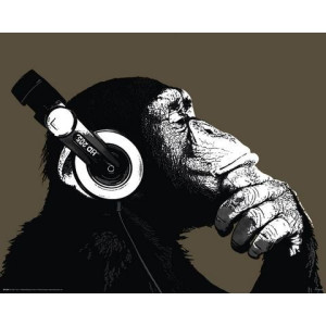 HOME AFFAIRE artprint The Chimp - Stereo