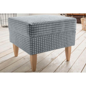 HOME AFFAIRE hocker Asino met pied-de-poule-bekleding