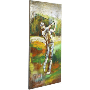 Home affaire metalen artprint 3D GOLFER