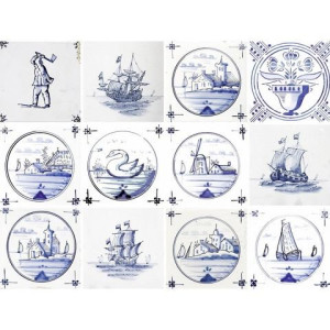 HOME AFFAIRE muursticker Maritiem, 12x 15x15 cm