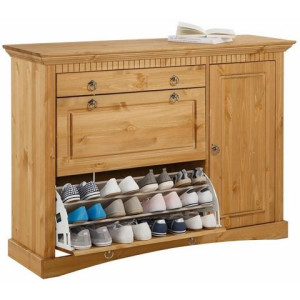 HOME AFFAIRE schoenenkast Rustic van massief grenen, 130 cm breed