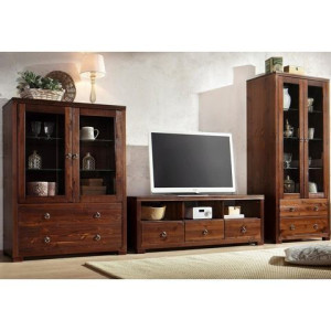 HOME AFFAIRE wandmeubel Gotland, bestaand uit 1 highboard, 1 TV-meubel en 1 vitrinekast