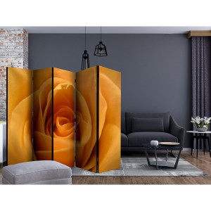 Home24 Kamerscherm Yellow Rose (set van 5), Artgeist