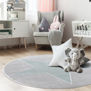 Home24 Kindervloerkleed Shootingstar rond, home24