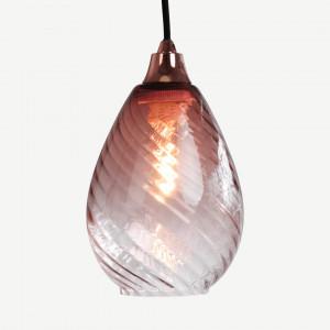 Ilaria hanglamp lampenkap, zachtroze