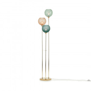 Ilaria staande lamp Triple, multicolour en messing