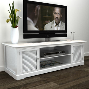 Tv-meubel hout (wit)