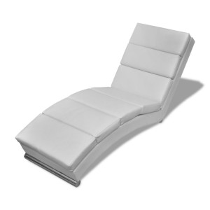 Chesterfield Chaise Longue witte ligstoel