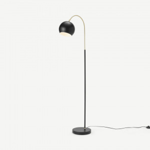 Jak booglamp staande lamp, zwart en messing