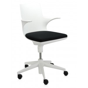 Kartell - Spoon Chair Bureaustoel - Wit Zwart