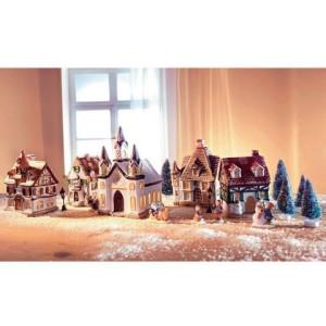 Home affaire kerstdorp met kerstverlichting (17 stuks)