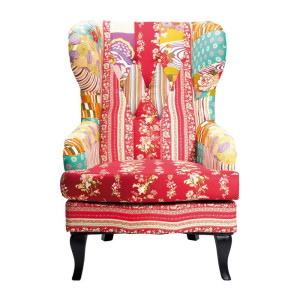 Kare Design Patchwork Red Kleurrijke fauteuil Patchwork Red
