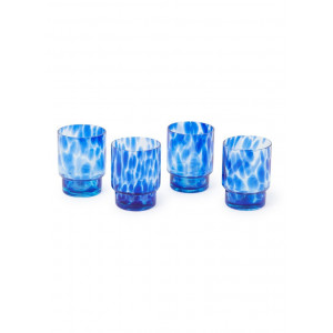 &Klevering Turtoise Blue drinkglazen 30 cl set van 4